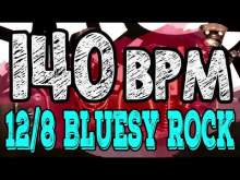 Embedded thumbnail for 140 BPM - Blues Rock Shuffle #1  - 12/8 Drum Track - Metronome - Drum Beat