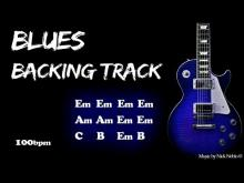 Embedded thumbnail for Blues Backing Track E minor