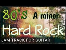Embedded thumbnail for Pumping Eighties Hard Rock Backing Track For Guitar in A minor