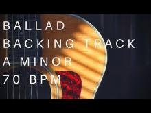 Embedded thumbnail for Ballad Guitar Backing Track | A Minor (70 Bpm)