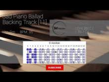 Embedded thumbnail for Sad Piano Ballad Guitar Backing Track Jam [11]