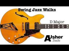 Embedded thumbnail for Swing Jazz Walks in D major | Guitar Backing Track