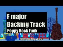 Embedded thumbnail for F major Backing Track | Poppy Rock Funk Guitar Backtrack | Chords | Scale | BPM