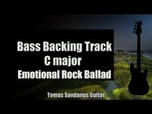Embedded thumbnail for Bass Backing Track - C major - Romantic Emotional Rock Ballad - NO BASS - Chords - Scale - BPM