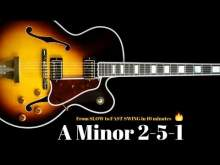 Embedded thumbnail for A Minor 2-5-1 Jazz Practice Backing Track // Slow - Medium - Fast Swing