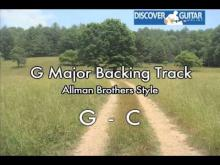 Embedded thumbnail for G Major Backing Track for guitar: Southern Rock Allman Brothers style