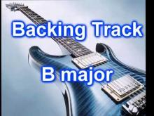Embedded thumbnail for Pop Rock Backing Track Guitar in B major