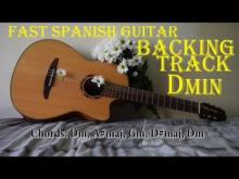 Embedded thumbnail for Fast Spanish Guitar Backing Track in Dm - The journey (Dm, A#maj, Gm, D#maj, Dm)