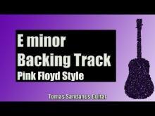 Embedded thumbnail for Pink Floyd Style | Progressive Rock Guitar Backing Track in E minor