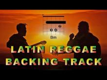 Embedded thumbnail for Latin Reggae Guitar Backing Track B minor D major