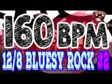 Embedded thumbnail for 160 BPM - Blues Rock Shuffle #2 - 12/8 Drum Track - Metronome - Drum Beat