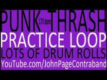 Embedded thumbnail for Punk Thrash Practice Drum Loop Heavy on the Fills D Beat 175 bpm