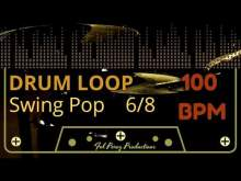 Embedded thumbnail for SWING POP in 6/8 - DRUM LOOP 100 BPM (Backing Track Bateria)