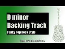 Embedded thumbnail for Backing Track in D minor Funk Pop Style with Chords & D minor Pentatonic Scale