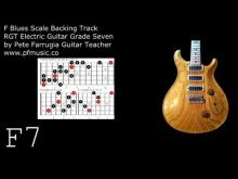 Embedded thumbnail for Guitar Backing Track F Blues Scale - Grade Seven