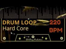 Embedded thumbnail for HARD CORE - DRUM LOOP 200 BPM (Backing Track Bateria)