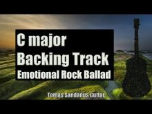 Embedded thumbnail for Emotional Backing Track | C major | Romantic Rock Ballad Guitar Backtrack | Chords | Scale | BPM