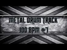 Embedded thumbnail for Simple Straight Metal Drum Track 100 BPM (HQ,HD)