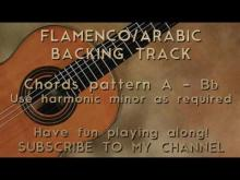Embedded thumbnail for Backing Track Flamenco/Arabic Harmonic Minor A/Bb