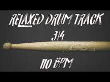 Embedded thumbnail for Relaxed 3/4 drum groove - 110 bpm
