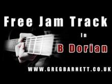 Embedded thumbnail for Guitar Solo Backing Track | B Dorian Metal | Greg Barnett