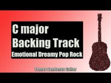Embedded thumbnail for Backing Track in C Major Emotional Pop Rock with Chords and C Major Pentatonic Scale