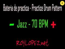 Embedded thumbnail for Bateria de practica / Practice Drum Pattern - Jazz - 70 BPM