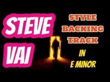 Embedded thumbnail for Steve Vai Style Backing Track E Minor (Em)