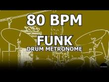 Embedded thumbnail for Funk | Drum Metronome Loop | 80 BPM