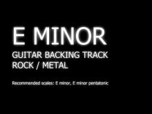Embedded thumbnail for E Minor / Em / FREE Guitar Backing Track / Rock / Metal / 80s