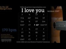 Embedded thumbnail for I Love You (170 bpm) - Gypsy jazz Backing track / Jazz manouche
