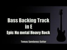 Embedded thumbnail for Bass Jam Track in E | Epic Nu metal Heavy Rock