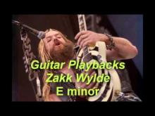 Embedded thumbnail for Backing Track in E Minor Style Zakk Wylde