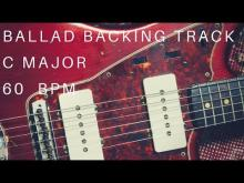 Embedded thumbnail for Ballad Backing Track - C Major (60 Bpm)