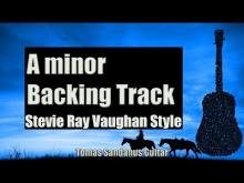 Embedded thumbnail for SRV Style Backing Track in A minor - Sad Slow Blues Guitar Backtrack - Chords - Scale - BPM