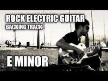 Embedded thumbnail for Rock Electric Guitar Backing Track In E Minor