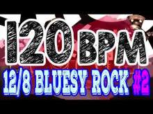 Embedded thumbnail for 120 BPM - Blues Rock Shuffle #2 - 12/8 Drum Track - Metronome - Drum Beat