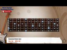 Embedded thumbnail for Summertime Jazz Guitar MELODY Backing Track with scale