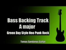 Embedded thumbnail for Bass Backing Track | A major | Green Day Style | Neo Punk Rock '00s | Chords | Scale | BPM