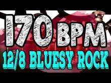 Embedded thumbnail for 170 BPM - Blues Rock Shuffle #1  - 12/8 Drum Track - Metronome - Drum Beat
