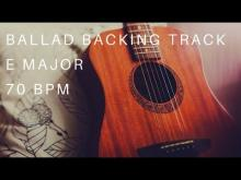 Embedded thumbnail for Ballad Guitar Backing Track | E Major (70 Bpm)