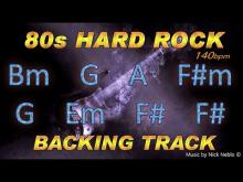 Embedded thumbnail for 80s Hard Rock Guitar Backing Track B minor