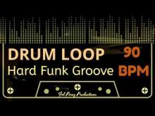 Embedded thumbnail for HARD FUNK GROOVE - DRUM LOOP 90 BPM (Backing Track Bateria)