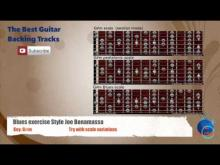 Embedded thumbnail for Blues Exercise style Joe Bonamassa in G#m Guitar Backing Track with scales