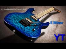 Embedded thumbnail for Atmospheric 80s Rock Ballad Backing Track E Minor