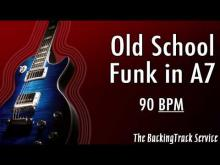 Embedded thumbnail for Old School Funk Backing Track in A7/Am