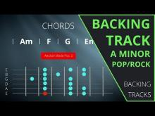 Embedded thumbnail for Guitar Backing Track in A minor - Rock / Pop (114 BPM)