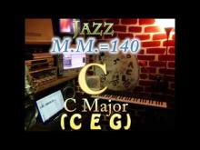 Embedded thumbnail for C Major (C E G) - Jazz - M.M.=140 - One Chord Backing Track