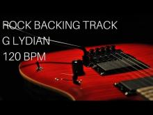 Embedded thumbnail for Rock Guitar Backing Track | G Lydian (120bpm)