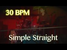 Embedded thumbnail for 30 BPM - Simple Straight Beat - Drum Track